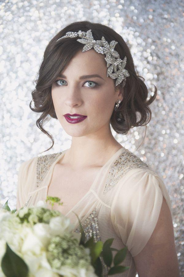 Penteados de noiva bonita com bandas de cabeça