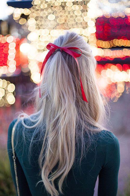 Várias maneiras de usar um laço em seu cabelo