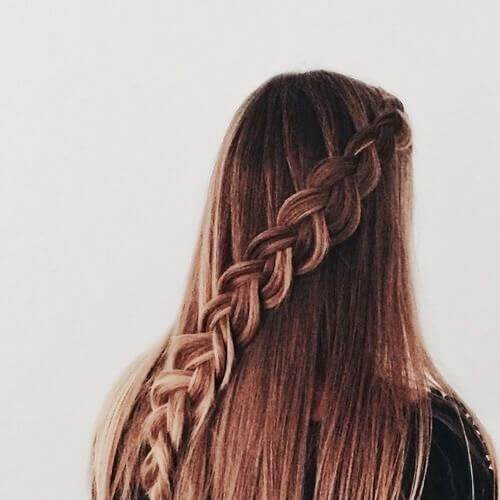 50 penteados de trança adorável para cabelos longos