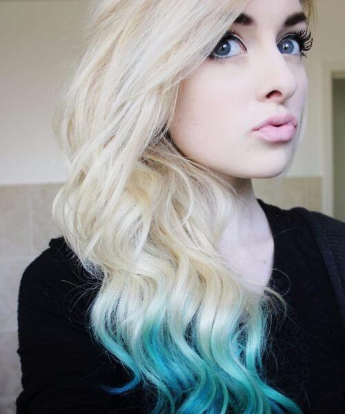 ombre de cabelo sereia