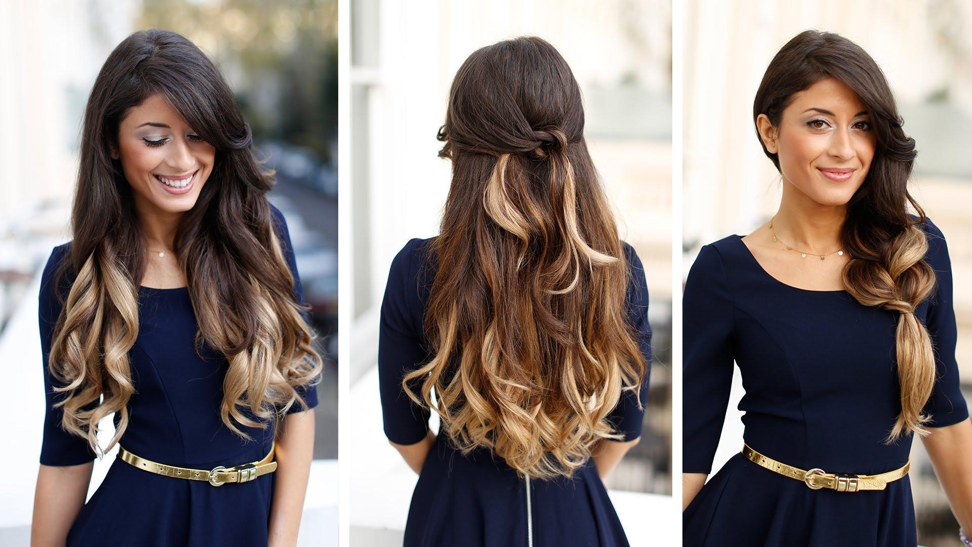 Melhores penteados elegantes para meninas em seu aniversário