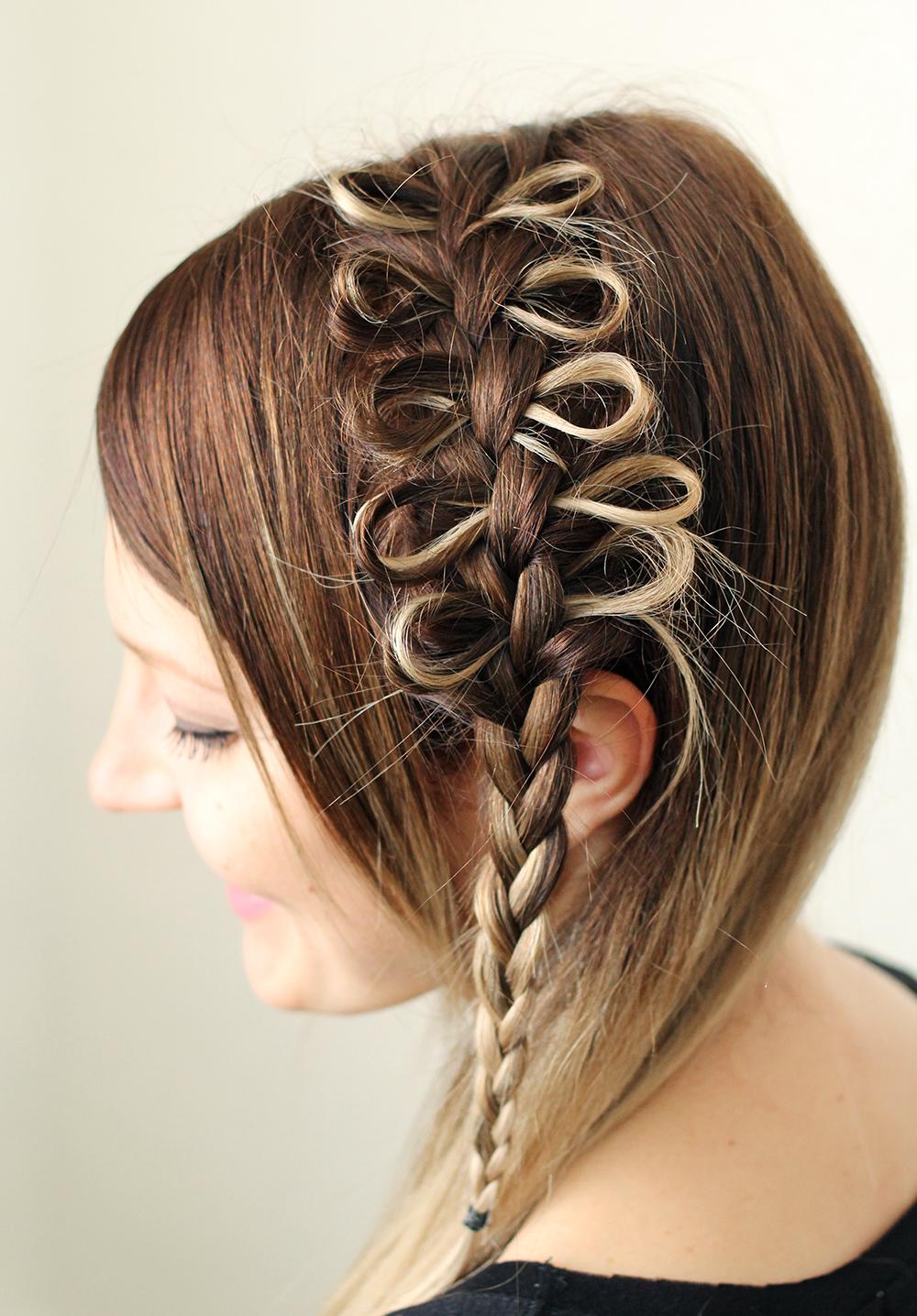 Exclusivo bonito meninas penteado arco trança