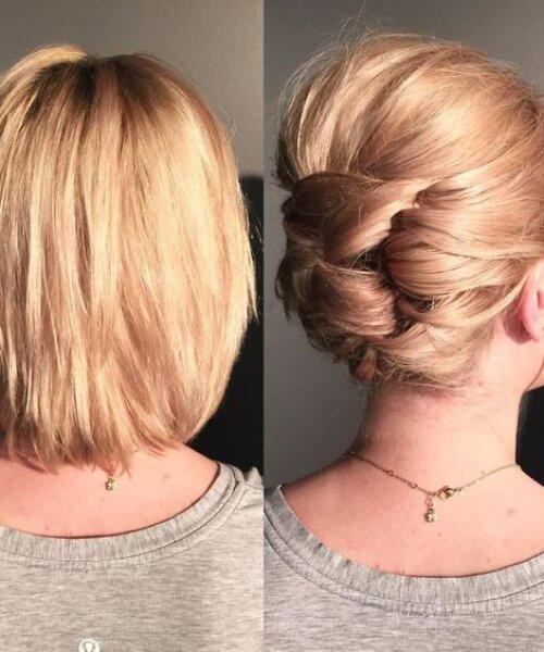 70 belas updos para cabelos curtos