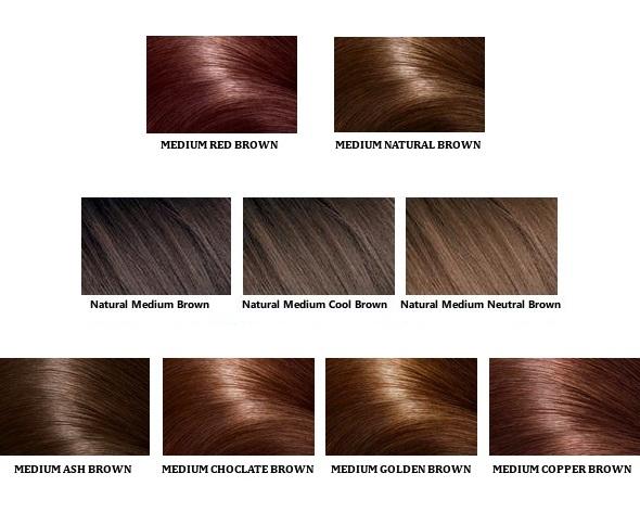 Diferentes tons de cor marrom médio para homens e mulheres