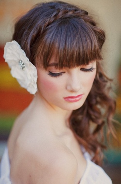 Bangs para Bridals com diferentes técnicas e estilos