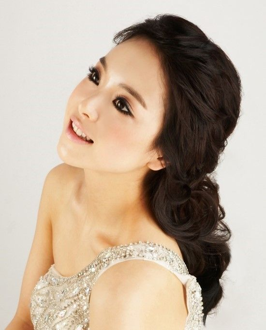 Meninas coreanas Top Ten penteados de casamento na moda