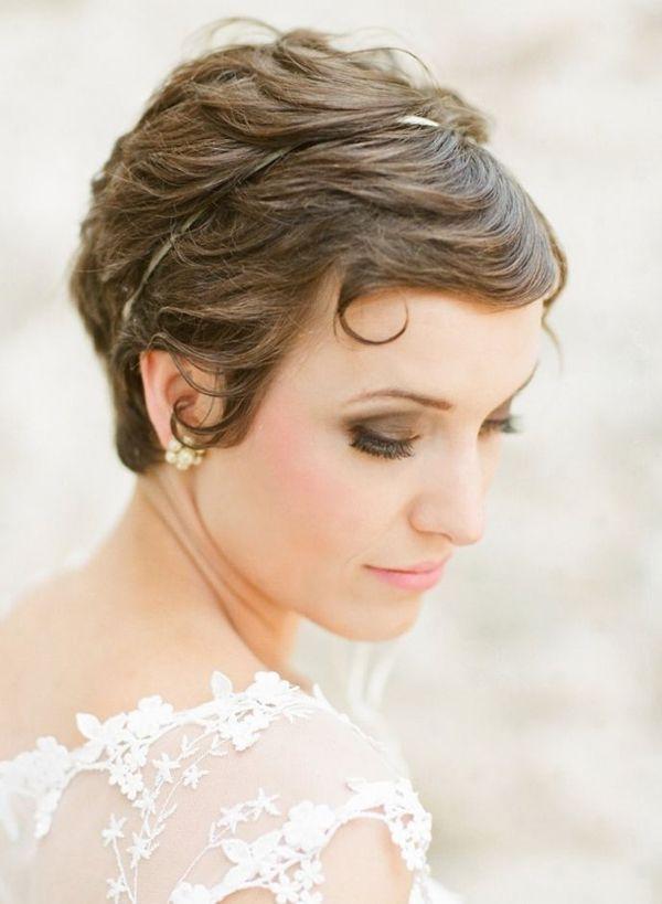 Cortes de cabelo super bonitos, adoráveis & à moda para noivas da forma