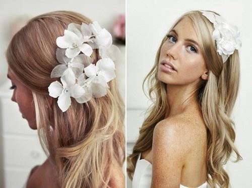 Penteado de flor sedutor para cabelos longos e bonitos