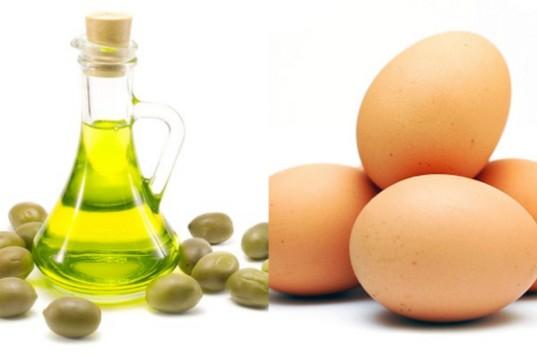 3 azeite e mistura de ovos