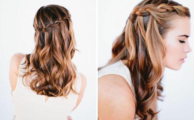 Penteados de festa incrível para meninas elegantes