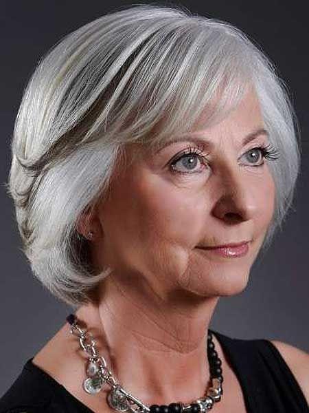 Idéias surpreendentes penteado curto para mulheres idosas