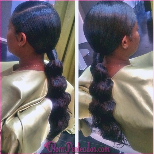 20 penteados fáceis de rabo de cavalo preto
