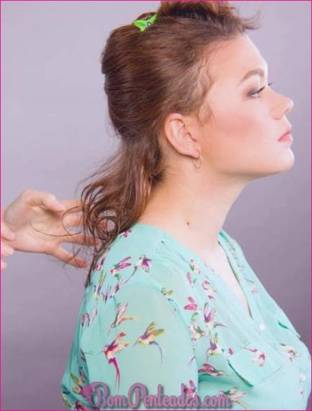 Como obter o cabelo molhado scrunched olhar?