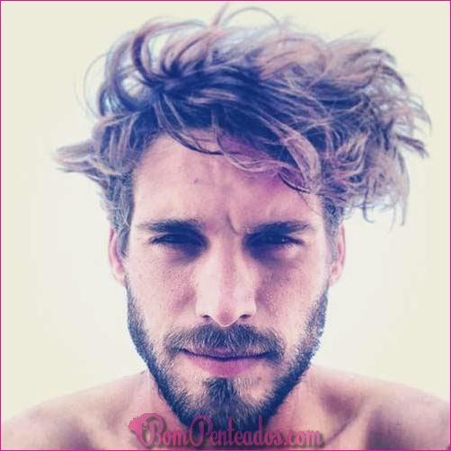 20 homens penteados bagunçados