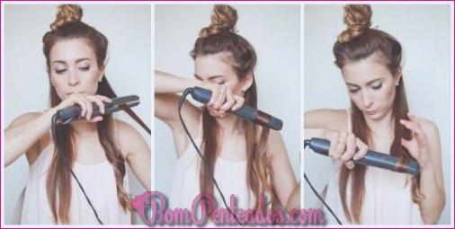 Como enrolar o cabelo com um alisador?