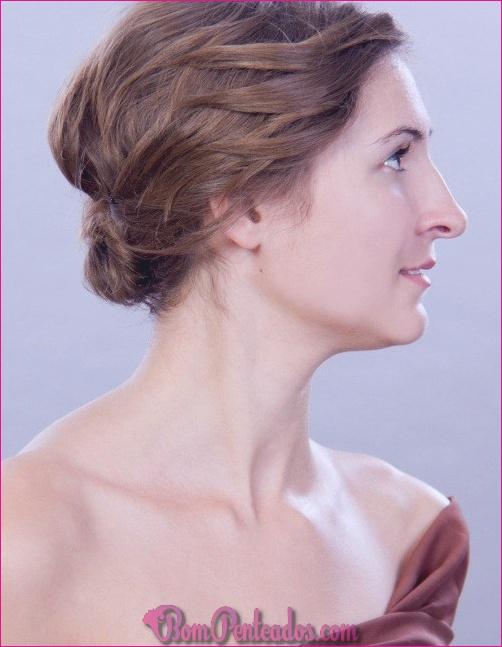 Como elegante Updo para cabelo curto e fino?