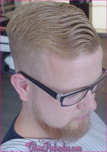 Penteados de homens diferentes lado partido