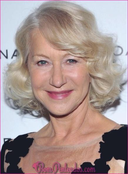 Penteados elegantes para mulheres mais velhas