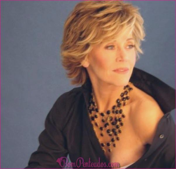 15 espetaculares Penteados Jane Fonda
