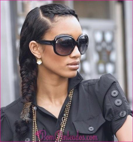 15 penteados de trança francesa para mulheres de cabelo preto