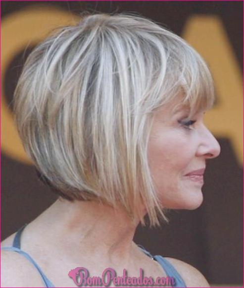 15 penteados encantadores para mulheres acima de 70