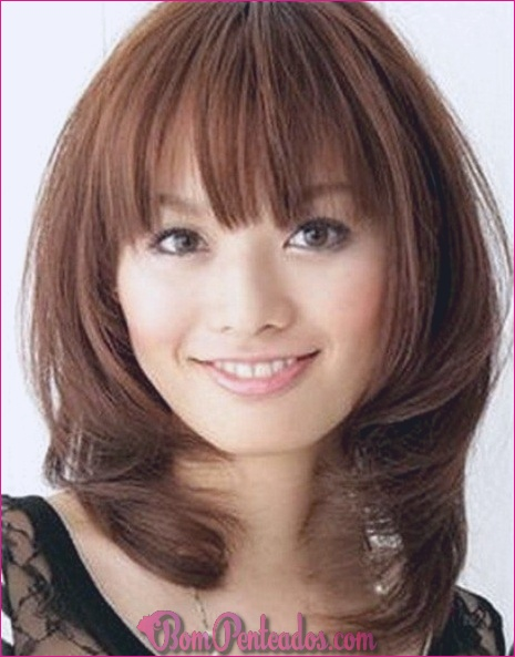 40 cortes de cabelo de comprimento médio para cabelos grossos