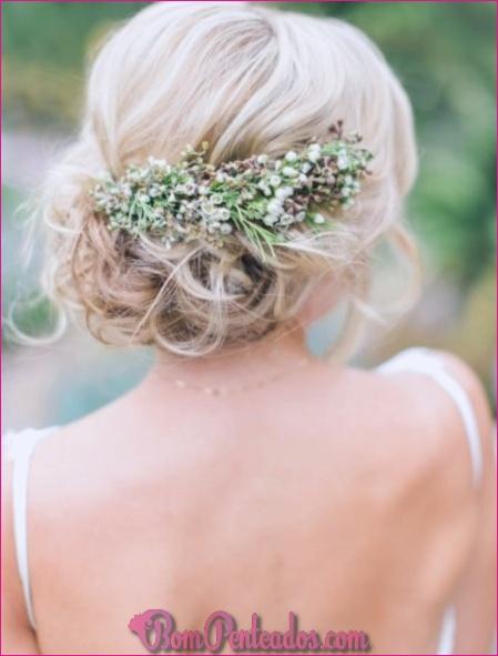 15 penteados de casamento doce para cabelos médios