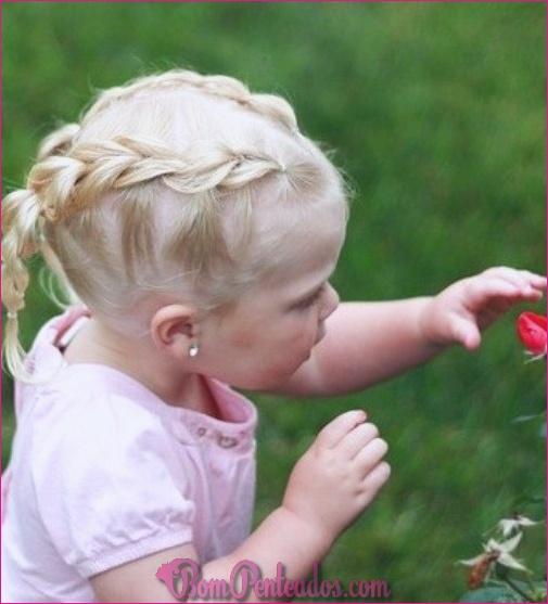 20 penteados de menina de bebê