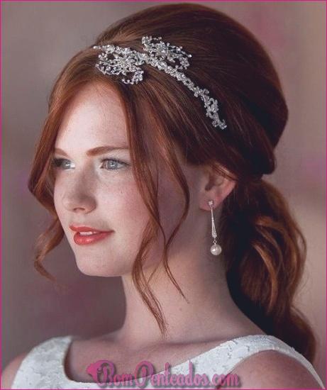 20 melhores penteados de casamento até a metade e para baixo