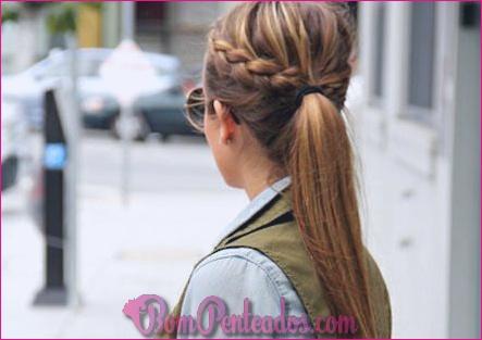 Dois penteados de trança francesa para mulheres