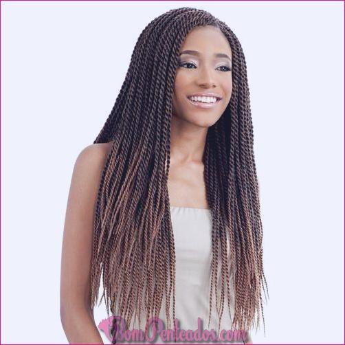 20 grossas torções senegalesas para mulheres negras