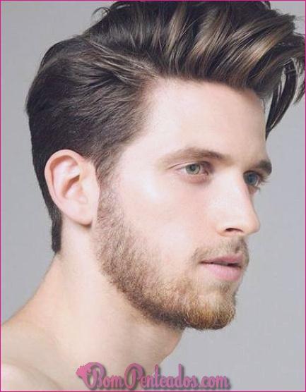 Penteados curtos de homens elegantes