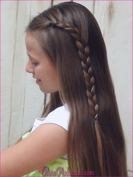 Penteados trançados meio emocionantes
