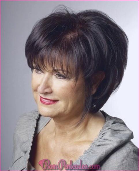 Penteados diferentes para mulheres mais velhas