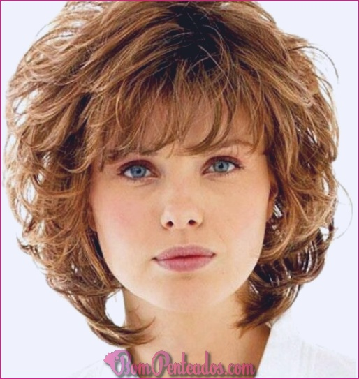 15 cortes de cabelo Shag encaracolados para curtas ondas de comprimento médio
