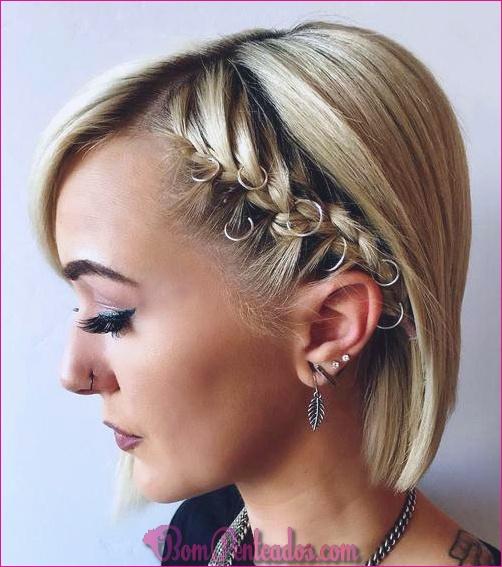 15 lindos penteados de baile para cabelos curtos