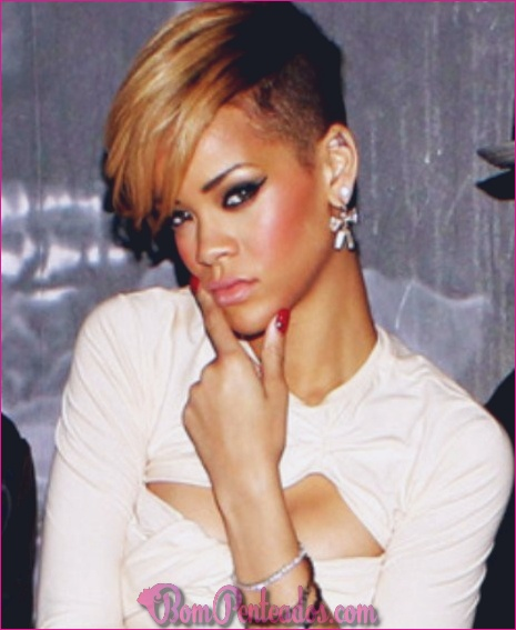 15 atraentes looks com penteados curtos de Rihanna
