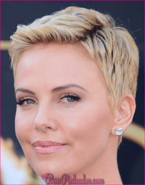 20 penteados curtos bonitos para rostos redondos