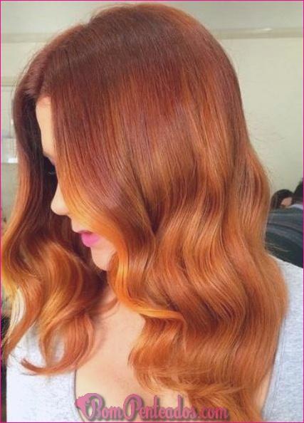 20 tons de cabelo vermelho