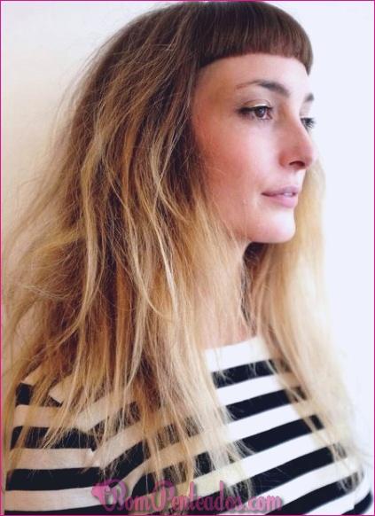 20 cortes de cabelo longos em camadas com franja
