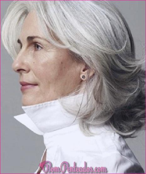 Penteados diferentes para cabelos grisalhos