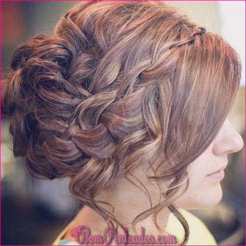 Updos bagunçado para cabelos longos