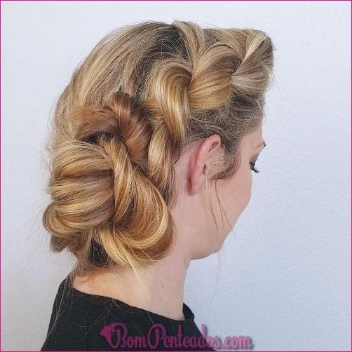 15 penteados exclusivos Bun lado