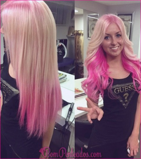 15 penteados cor-de-rosa de Ombre