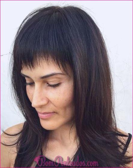 15 lindos penteados longos com franja