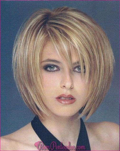 20 penteados curtos em camadas curtas