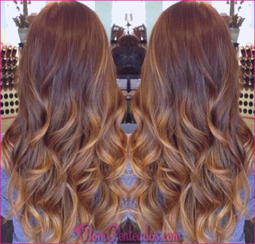 15 diferentes cores de cabelo Balayage