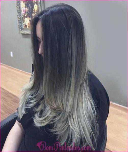 15 cabelo liso reto de Ombre