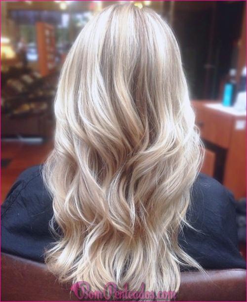 Tipos de cabelo louro e branco platinado