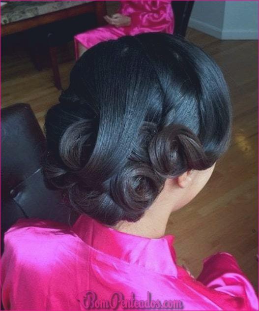 20 lindos penteados de casamento preto